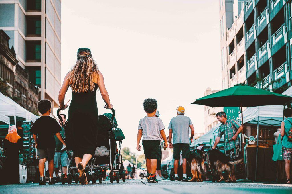 Passeggino e bambini