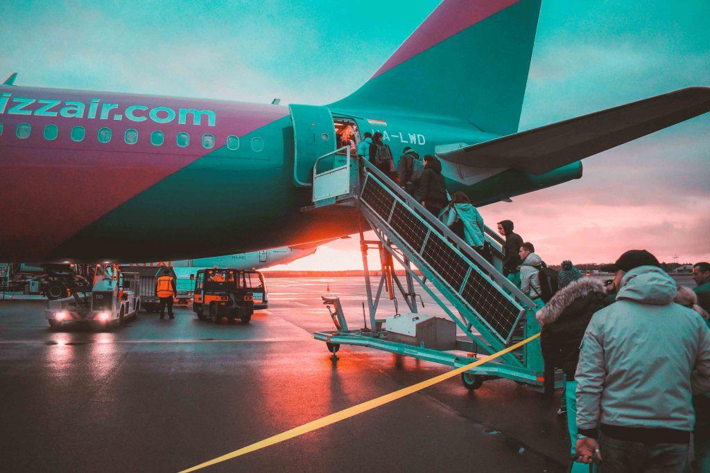 Boarding su aereo Wizzair